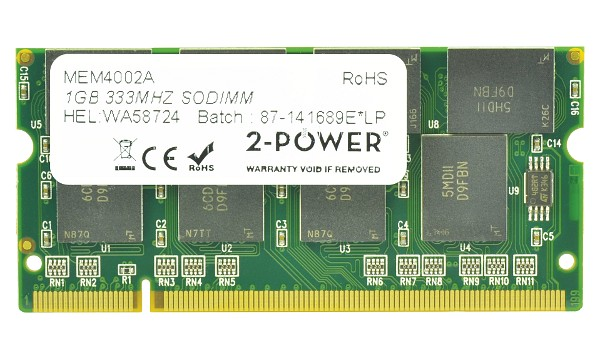 Satellite M40X-249 1GB PC2700 333MHz SODIMM