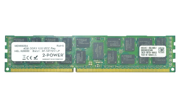 PowerEdge M420 4GB DDR3 1333MHz ECC RDIMM