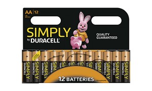 Duracell Simply AA 12 Pack